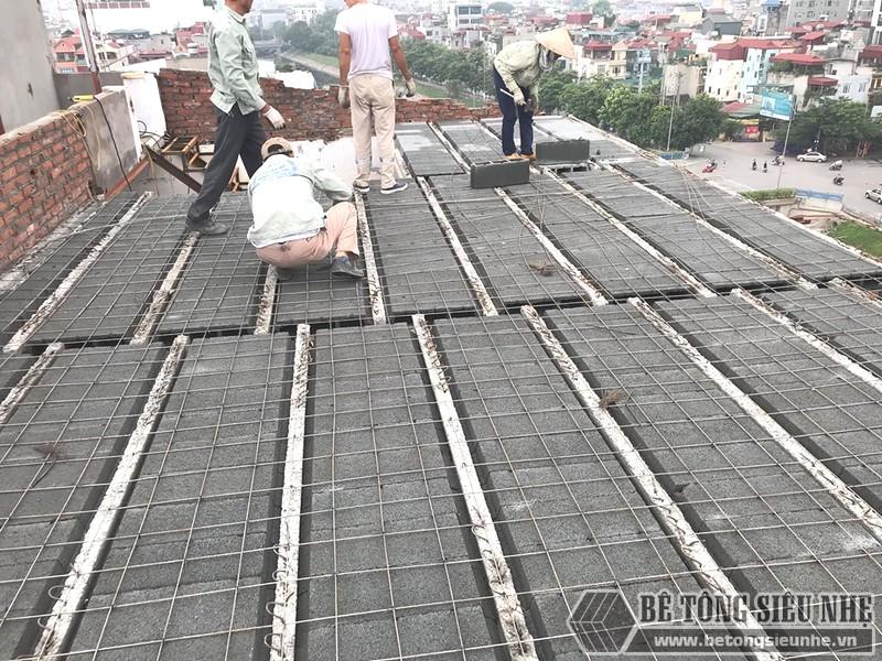 Sàn nhẹ phải được thi công bởi các đội thợ, công ty chuyên nghiệp