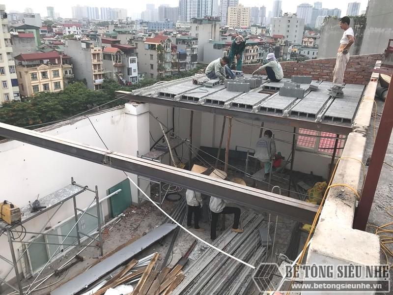 Thi công bê tông nhẹ trọn gói tại Hà Nội, công trình thực tế tại Gia Lâm - 01