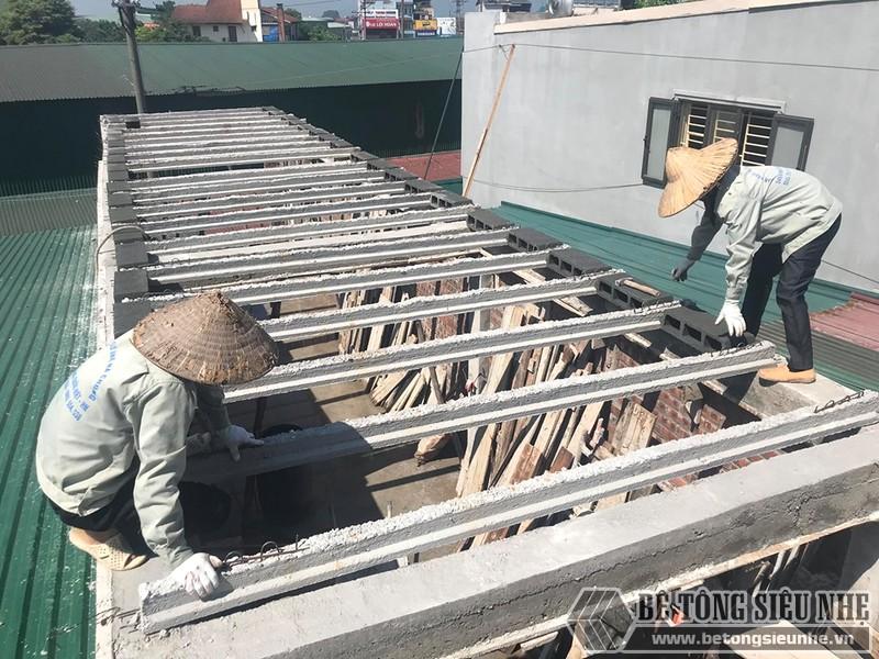 Xây nhà lắp ghép bằng cách làm sàn bê tông siêu nhẹ