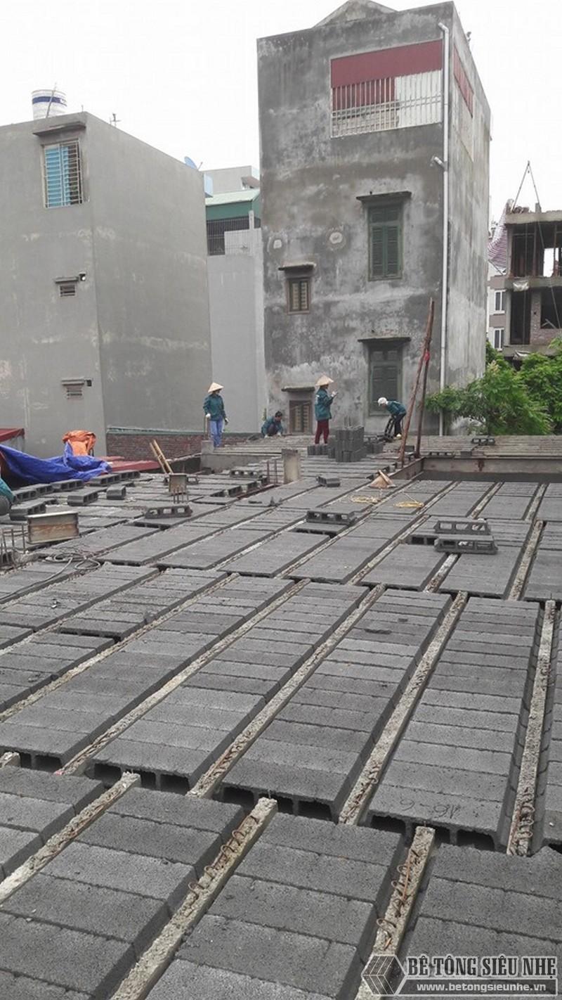 Lắp ghép sàn bê tông siêu nhẹ tại nhà anh Thư ở Ứng Hòa, Hà Nội
