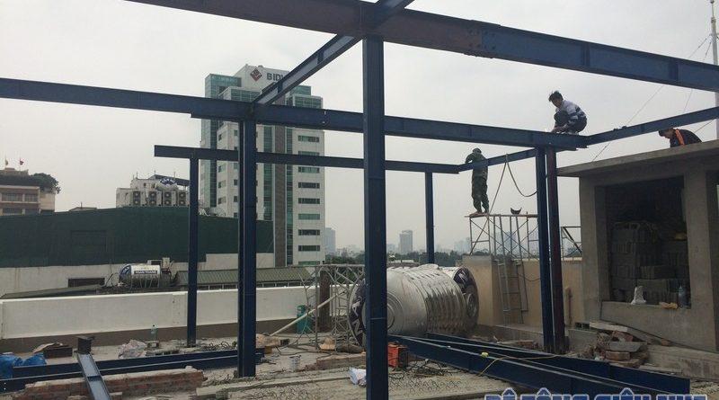 Dựng nhà bằng khung thép tiền chế - công trình thực tế của betongsieunhe.vn tại Hà Nội