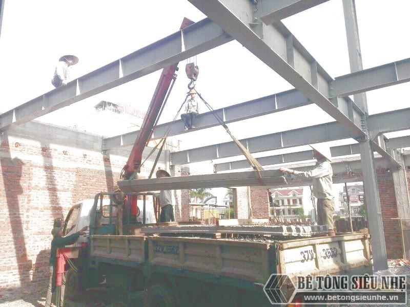 Báo giá trọn gói thi công nhà khung thép kết hợp làm sàn tông nhẹ và tấm tường panel siêu nhẹ mới cập nhật tháng 8 năm 2019