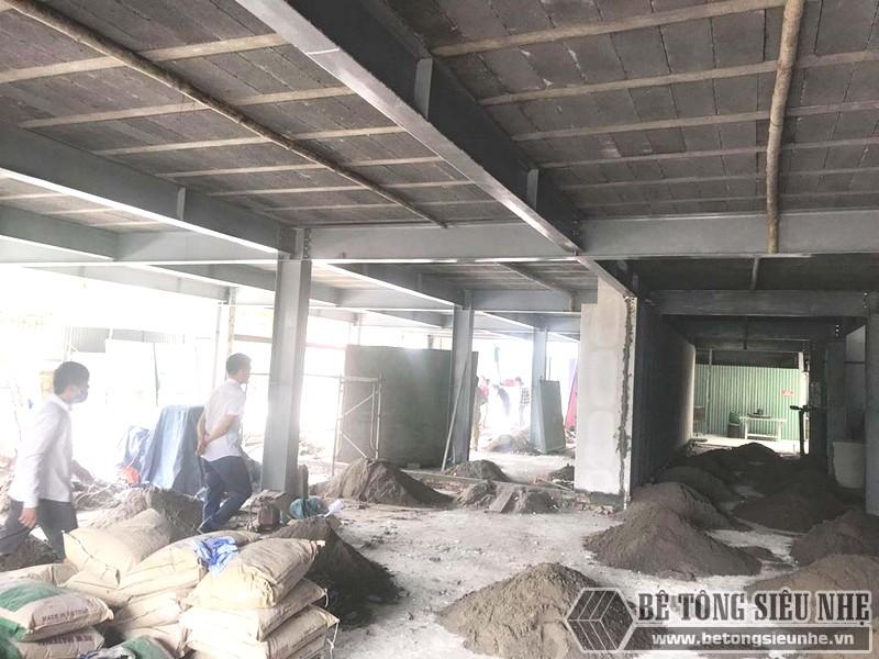 Thi công nhà khung thép, sàn bê tông nhẹ và tấm tường panel siêu nhẹ tại Hà Đông, Hà Nội - 02