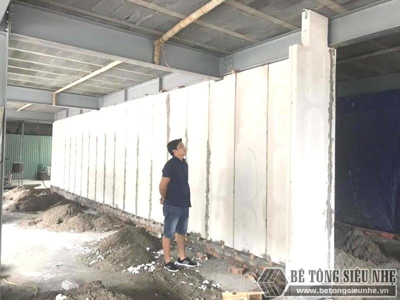 Thi công nhà khung thép, sàn bê tông nhẹ và tấm tường panel siêu nhẹ tại Hà Đông, Hà Nội - 01