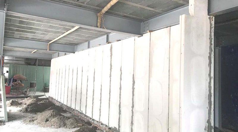 Thi công nhà khung thép, sàn bê tông nhẹ và tấm tường panel siêu nhẹ tại Hà Đông, Hà Nội - 03
