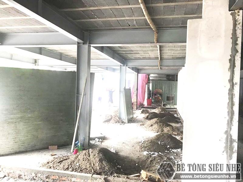 Thi công nhà khung thép, sàn bê tông nhẹ và tấm tường panel siêu nhẹ tại Hà Đông, Hà Nội - 05