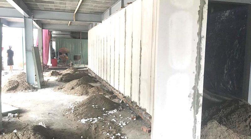 Tấm tường bê tông nhẹ được xây dựng bằng cách lắp ghép