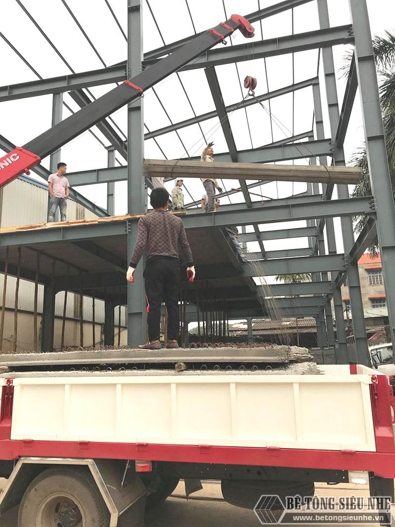 Xây nhà khung thép 3 tầng kết hợp sàn bê tông nhẹ Xuân Mai tại Đông Anh, Hà Nội - 02