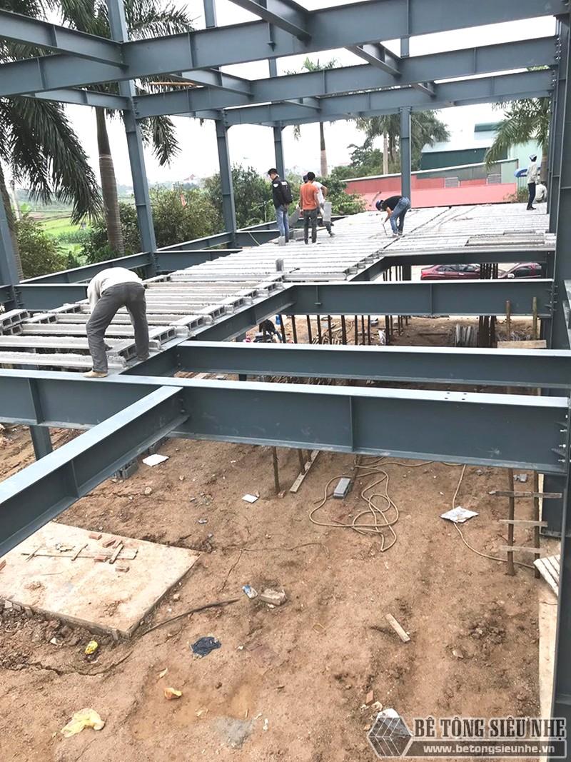Xây nhà khung thép 3 tầng kết hợp sàn bê tông nhẹ Xuân Mai tại Đông Anh, Hà Nội - 04