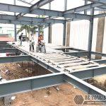 Những lưu ý khi xây nhà khung thép dân dụng kết hợp sàn bê tông nhẹ