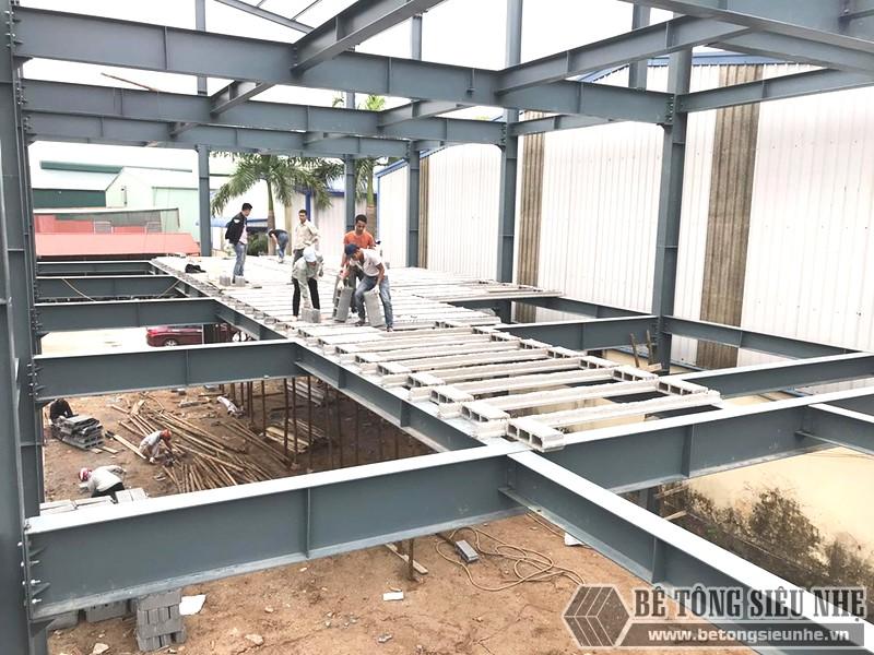 Xây nhà khung thép 3 tầng kết hợp sàn bê tông nhẹ Xuân Mai tại Đông Anh, Hà Nội - 05