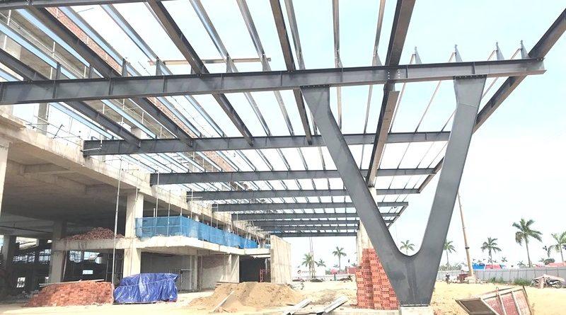 Thi công khung thép tiền chế làm gara ô tô tại Thanh Hóa - 01