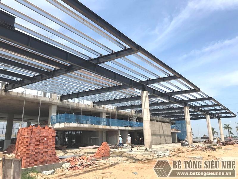 Thi công khung thép tiền chế làm gara ô tô tại Thanh Hóa - 03