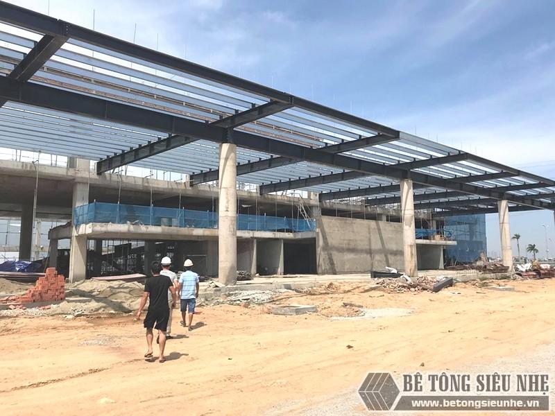 Thi công khung thép tiền chế làm gara ô tô tại Thanh Hóa - 04