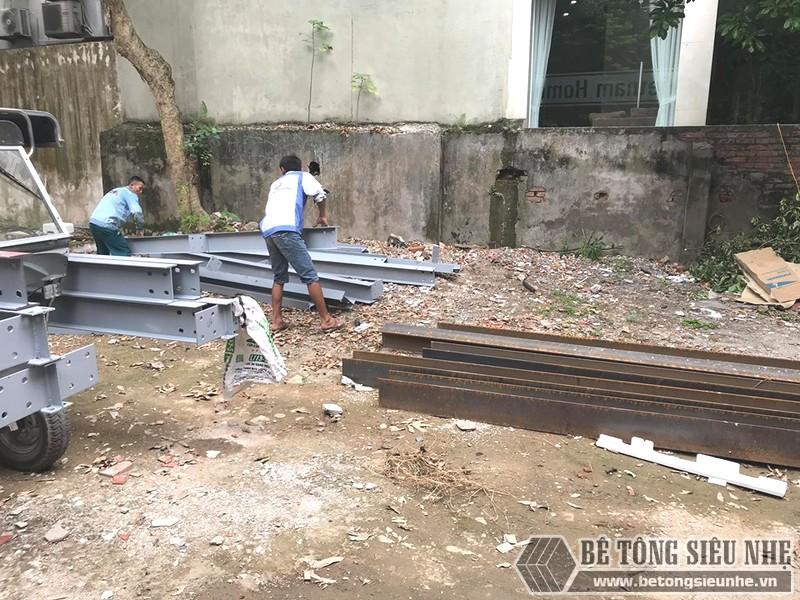Nâng tầng bằng khung thép tiền chế, sàn nhẹ tại Tây Hồ, Hà Nội - 04