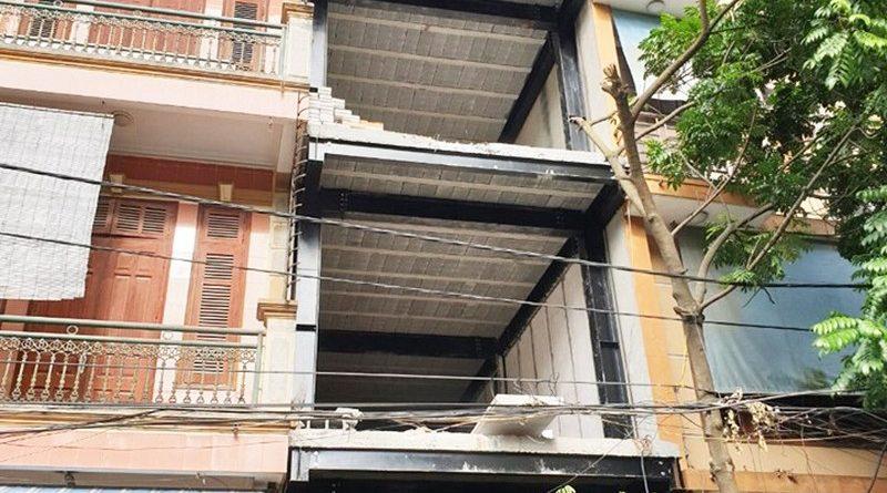 Xây nhà phố khung thép kết hợp sàn bê tông nhẹ