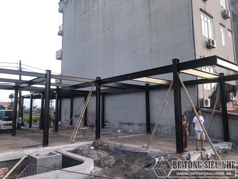"""Dựng nhà xưởng khung thép """"siêu nhanh"""" cho nhà chị Hà tại thị trấn Diêm Điền - Thái Bình"""