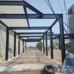 """Dựng nhà xưởng khung thép """"siêu nhanh"""" cho nhà chị Hà tại thị trấn Diêm Điền – Thái Bình"""