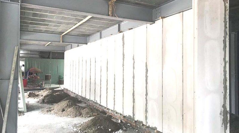 Công trình thực tế xây tường bằng tấm tường bê tông nhẹ Acotec