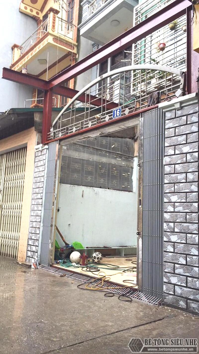 Thi công khung thép tiền chế, sàn bê tông nhẹ cải tạo, cơi nới gara ô tô nhà anh Tiến, Thanh Trì, Hà Nội - 01