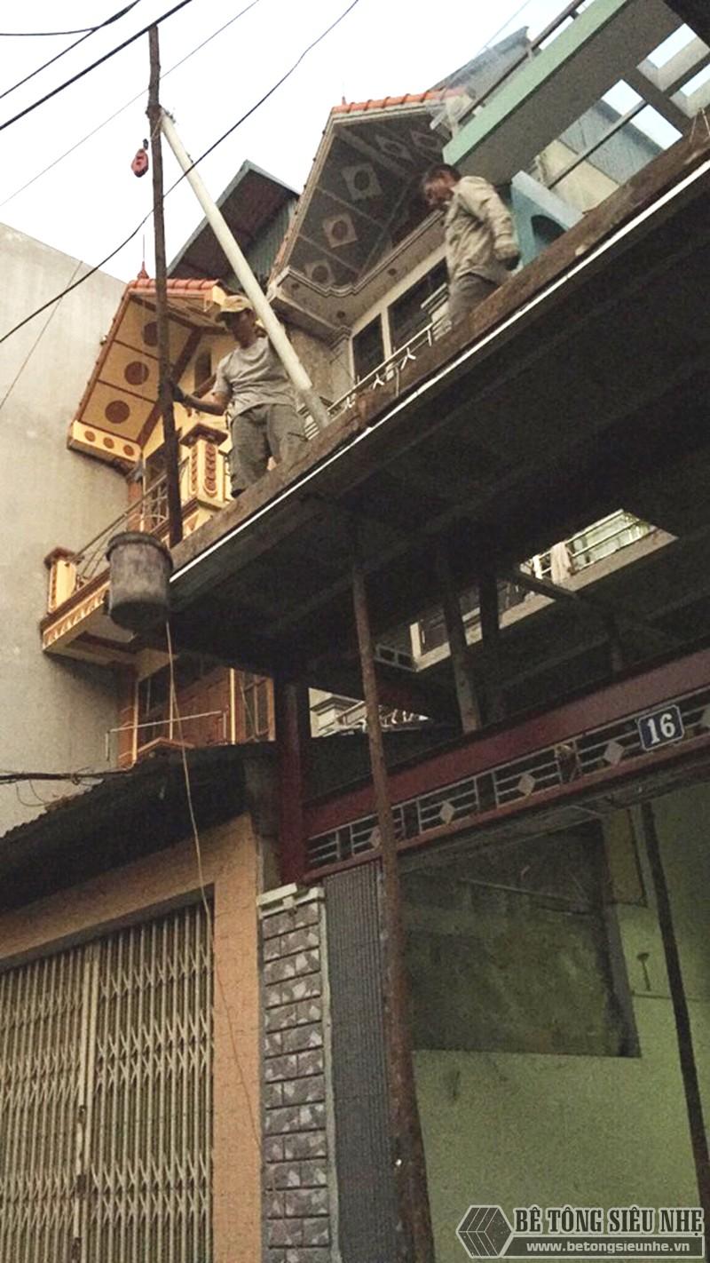 Thi công khung thép tiền chế, sàn bê tông nhẹ cải tạo, cơi nới gara ô tô nhà anh Tiến, Thanh Trì, Hà Nội - 05