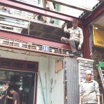 Khung thép tiền chế, sàn bê tông nhẹ cải tạo gara để xe ô tô tại Ngọc Hồi, Thanh Trì Hà Nội