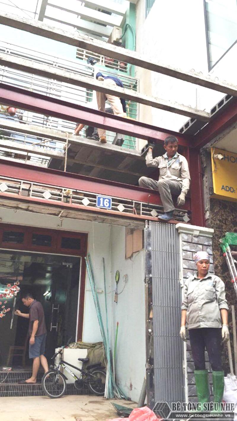 Thi công khung thép tiền chế, sàn bê tông nhẹ cải tạo, cơi nới gara ô tô nhà anh Tiến, Thanh Trì, Hà Nội - 04