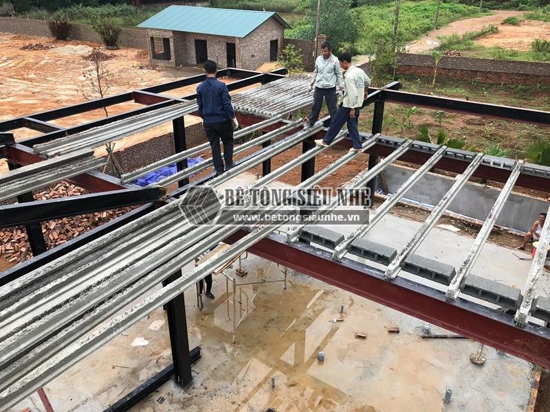 Dựng nhà xưởng bằng hệ khung thép tại Phú Ninh (P2), Minh Phú, Sóc Sơn, Hà Nội, nhà anh Ba