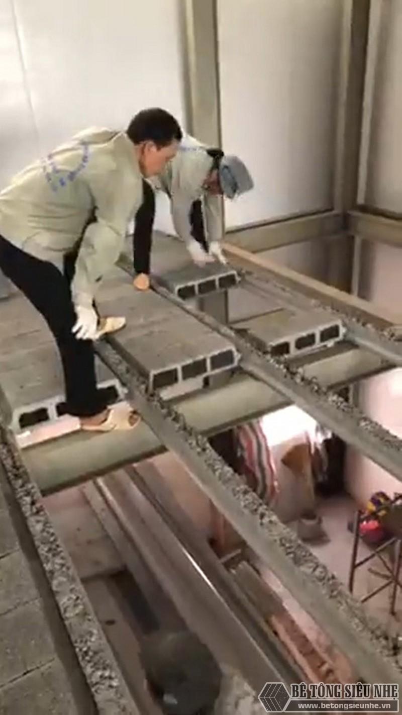 Thi công kết cấu thép và sàn bê tông nhẹ làm văn phòng tại Mai Hắc Đế - Hà Nội