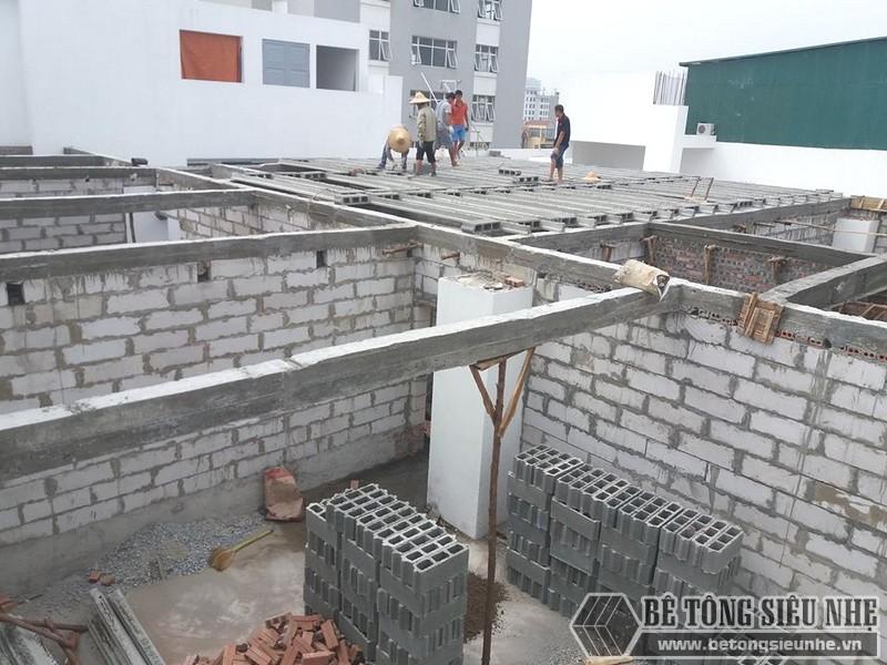 Xây nhà bằng gạch nhẹ không nung - gạch block