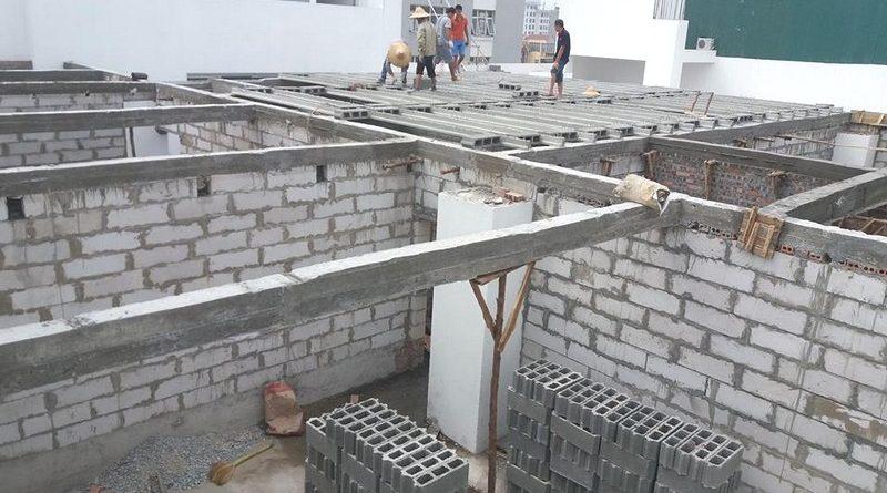 Gạch nhẹ xây tường - công trình thực tế xây tường bằng gạch block