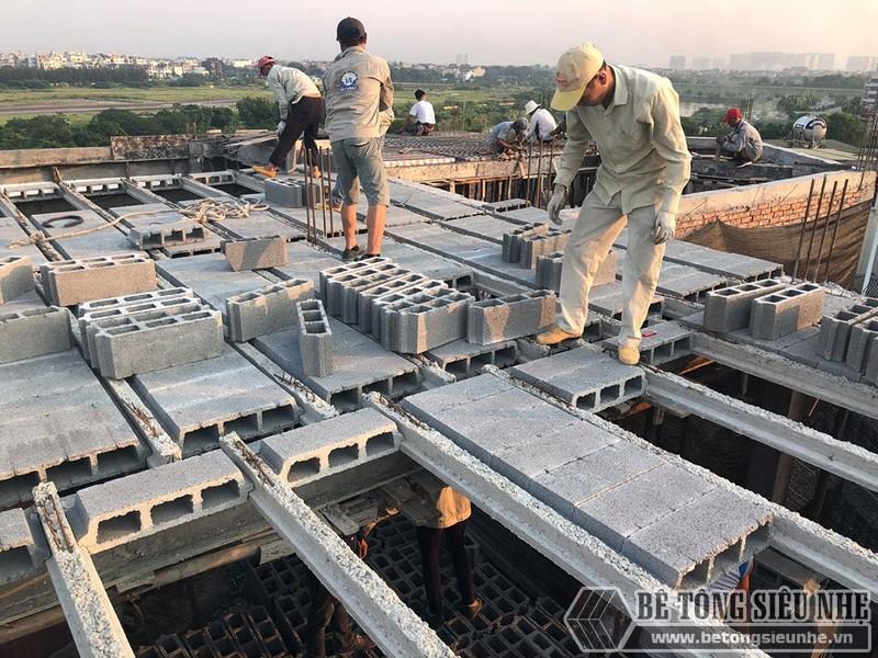 Sàn bê tông nhẹ giúp giảm áp lực nền móng cho công trình và giúp gia chủ tiết kiệm thời gian, công sức và tiền bạc
