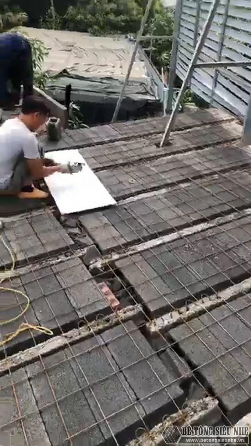 Một số hình ảnh thức tế về công tác buộc thép của sàn bê tông nhẹ Xuân Mai - 03
