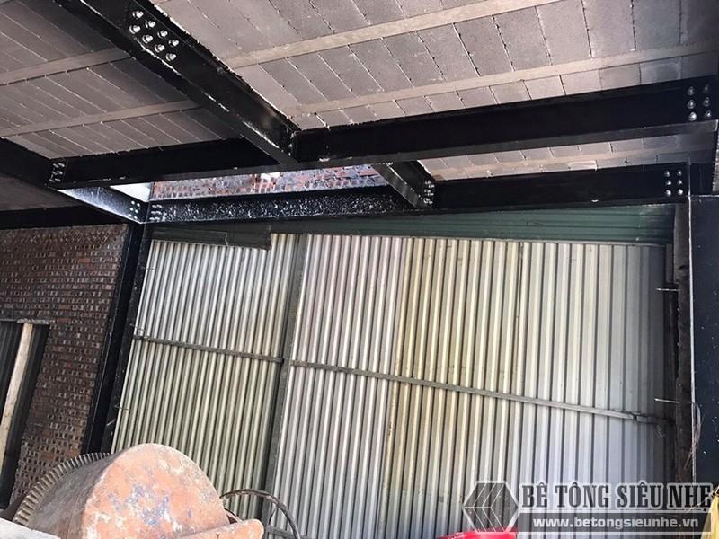 Nhà khung thép và sàn bê tông nhẹ tại Hưng Yên cho nhà chú Bản