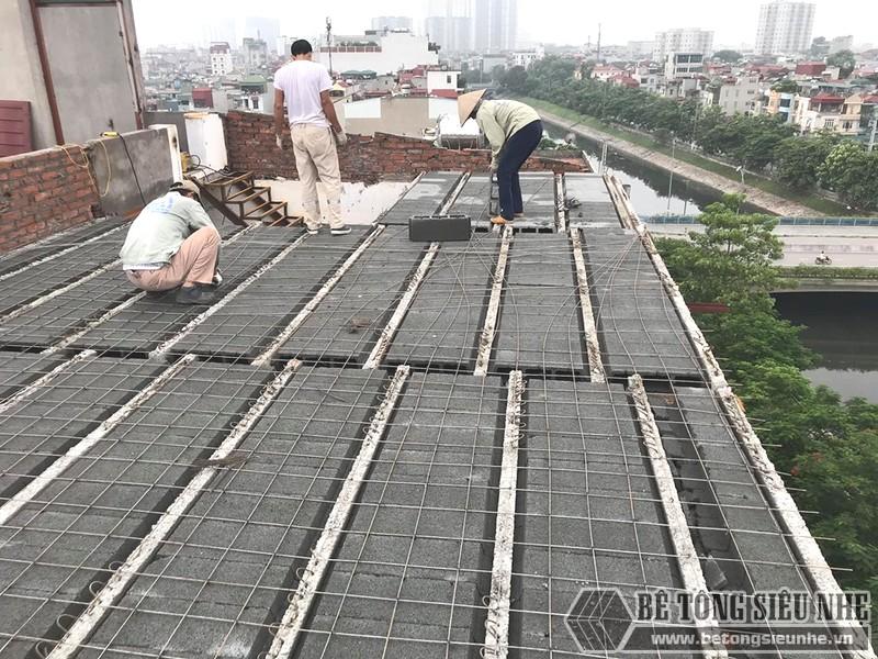 Sàn bê tông nhẹ thi công nhanh, tiết kiệm tối đa thời gian xây nhà