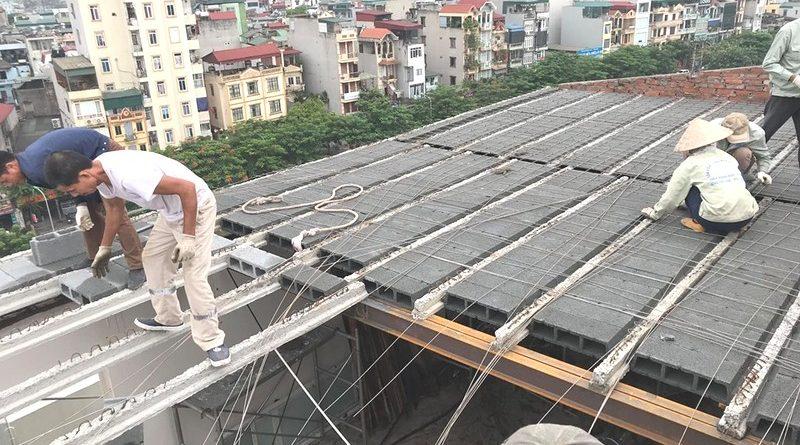 Xây nhà bằng bê tông nhẹ để giảm tối đa trọng lượng công trình