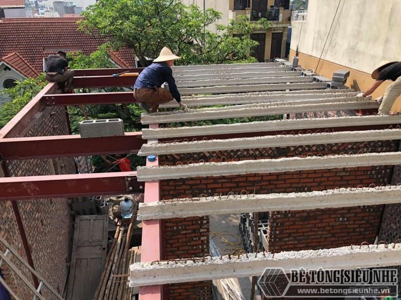 Xây nhà bằng bê tông siêu nhẹ giảm áp lực cho nền móng