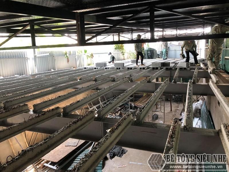 """Thi công sàn bê tông nhẹ """"hỏa tốc"""" cho nhà xưởng công ty vận tải tại Nguyễn Khoái - Thanh Trì - Hà Nội 03"""