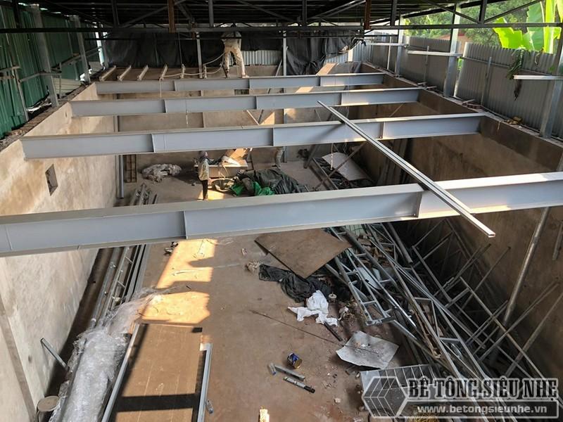 """Thi công sàn bê tông nhẹ """"hỏa tốc"""" cho nhà xưởng công ty vận tải tại Nguyễn Khoái - Thanh Trì - Hà Nội 02"""