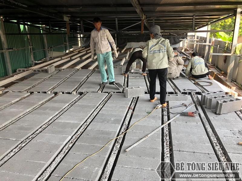 """Thi công sàn bê tông nhẹ """"hỏa tốc"""" cho nhà xưởng công ty vận tải tại Nguyễn Khoái - Thanh Trì - Hà Nội 07"""