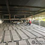 """Làm sàn bê tông nhẹ """"hỏa tốc"""" cho nhà xưởng công ty vận tải tại Nguyễn Khoái – Thanh Trì"""