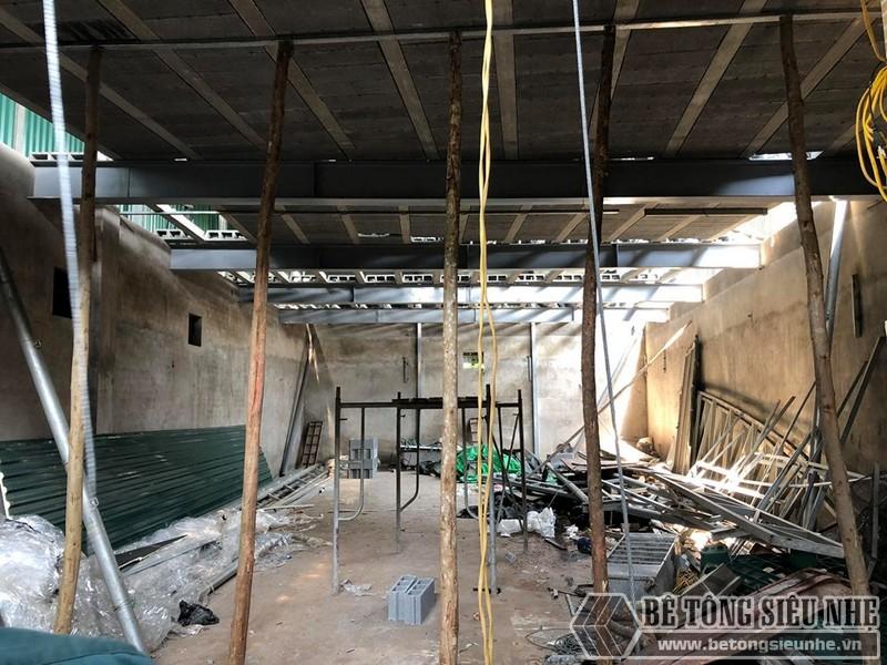 """Thi công sàn bê tông nhẹ """"hỏa tốc"""" cho nhà xưởng công ty vận tải tại Nguyễn Khoái - Thanh Trì - Hà Nội 08"""