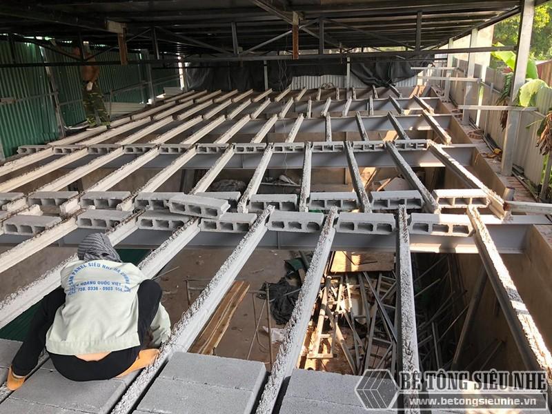 """Thi công sàn bê tông nhẹ """"hỏa tốc"""" cho nhà xưởng công ty vận tải tại Nguyễn Khoái - Thanh Trì - Hà Nội 05"""