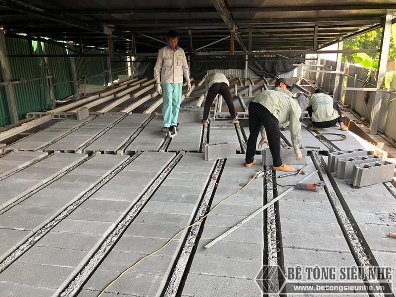 """Thi công sàn bê tông nhẹ """"hỏa tốc"""" cho nhà xưởng công ty vận tải tại Nguyễn Khoái - Thanh Trì - Hà Nội 06"""