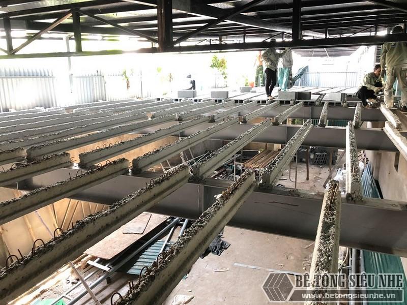 """Thi công sàn bê tông nhẹ """"hỏa tốc"""" cho nhà xưởng công ty vận tải tại Nguyễn Khoái - Thanh Trì - Hà Nội 04"""