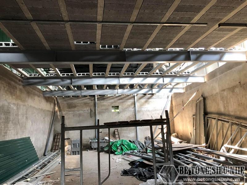 """Thi công sàn bê tông nhẹ """"hỏa tốc"""" cho nhà xưởng công ty vận tải tại Nguyễn Khoái - Thanh Trì - Hà Nội 09"""