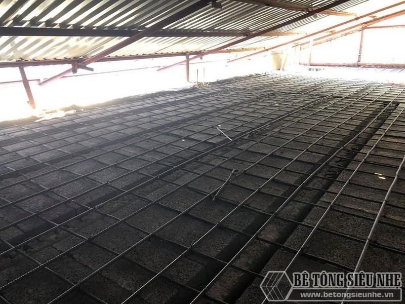 Bê Tông Siêu Nhẹ cải tạo nhà cũ bằng hệkhung thép và sàn bê tông nhẹ tại Thanh Xuân, Hà Nội cho nhà anh Vụ - 01