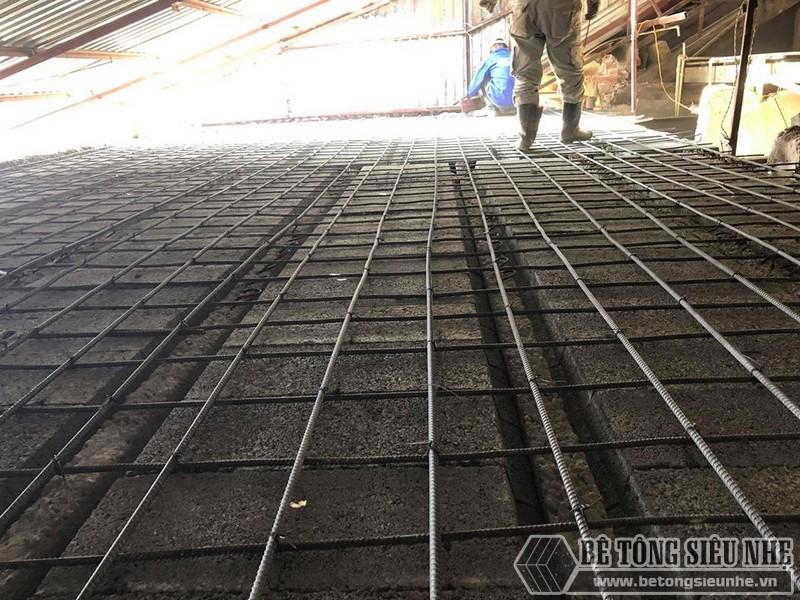 Bê Tông Siêu Nhẹ đanlưới thép quy chuẩn 15*15cm để giữ chắc hệ dầm chịu lực và gạch block - 02