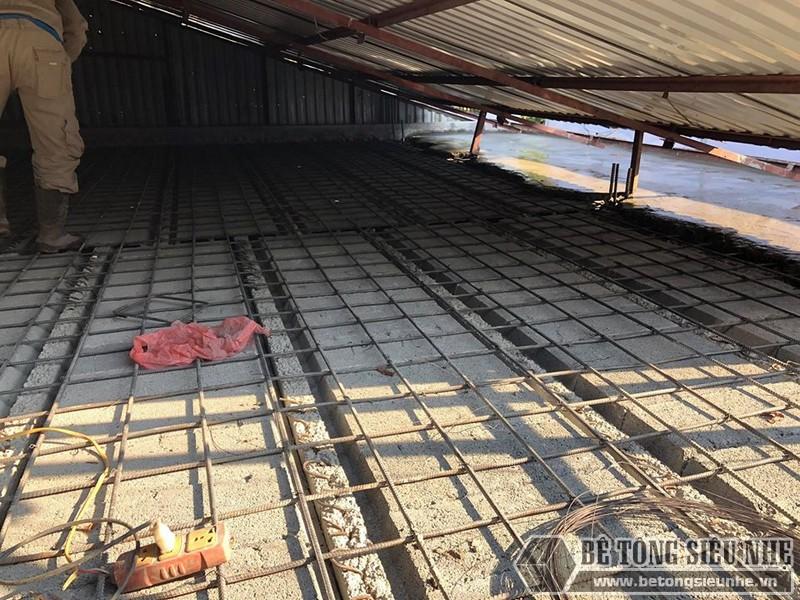 Bê Tông Siêu Nhẹ đanlưới thép quy chuẩn 15*15cm để giữ chắc hệ dầm chịu lực và gạch block - 03