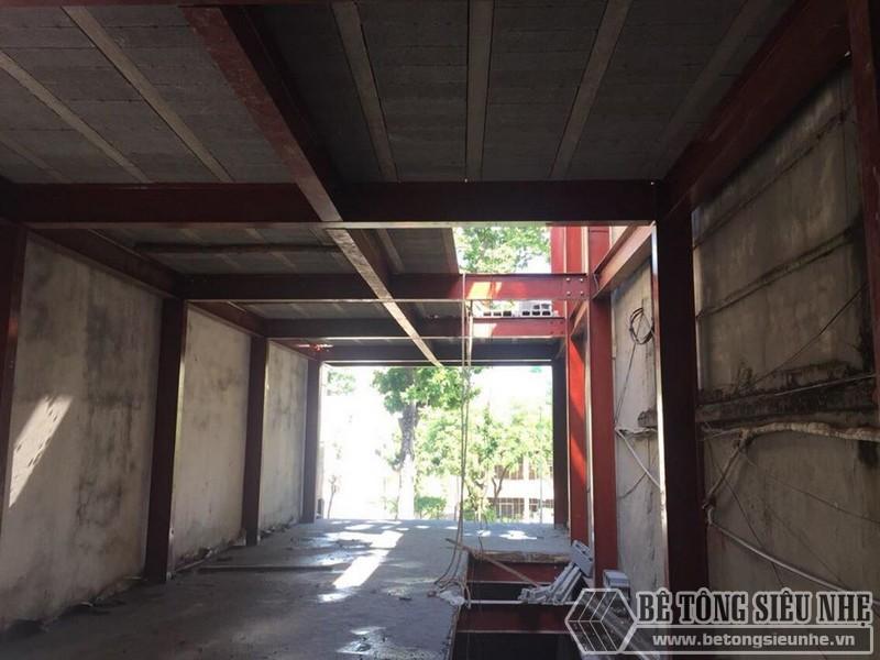 Betongsieunhe thi công nhà khung thép kết hợp sàn bê tông nhẹ tại Thanh Trì - Hà Nội cho nhà anh Kim